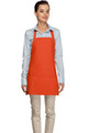 "Orange Criss Cross Back Three Pocket Restaurant Quality Bib Apron 24"" L x 28"" W - Item # 350-200XX"
