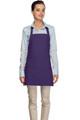 """Purple Criss Cross Back Three Pocket Restaurant Quality Bib Apron 24"""" L x 28"""" W - Item # 350-200XX"""
