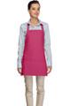 """Hot Pink Criss Cross Back Three Pocket Restaurant Quality Bib Apron 24"""" L x 28"""" W - Item # 350-200XX"""