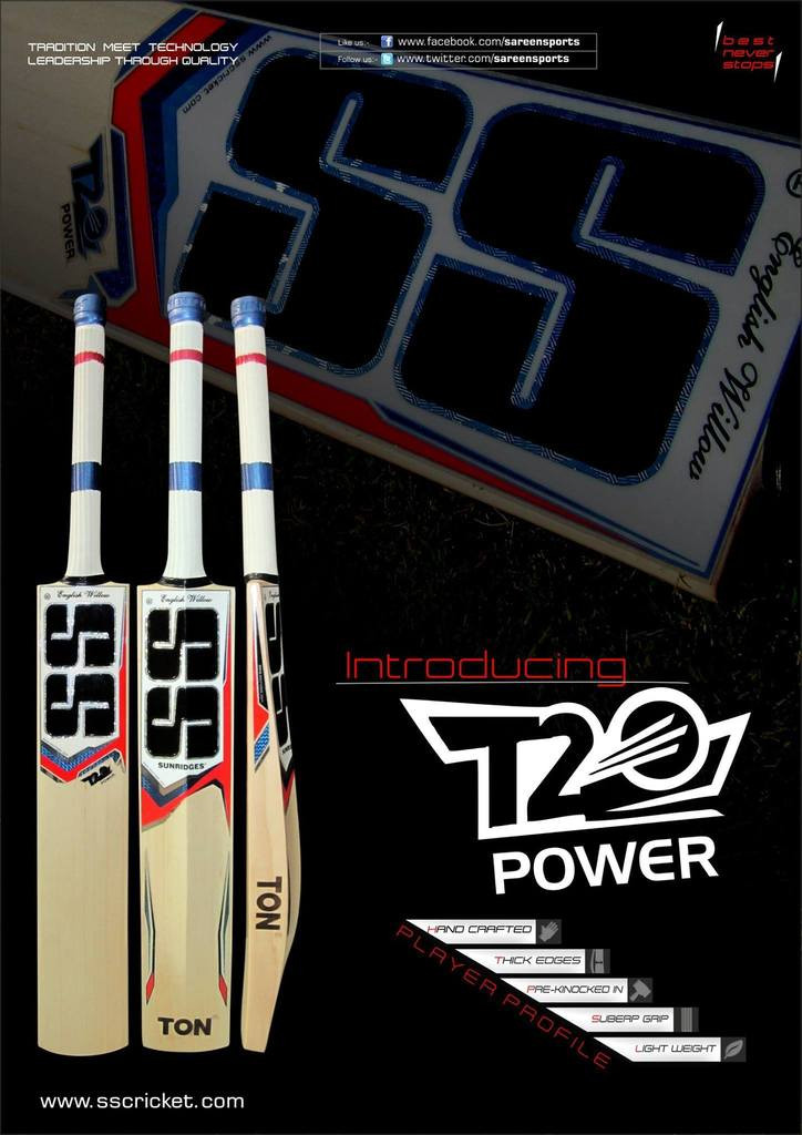 a2374ac2ba39c ... SS T20 Power English Willow Cricket Bat. Image 1. Image 1. Click to  enlarge