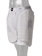 High density moulded foam thigh pad and inner thigh pad which are cut-to-fit for right handed or left handed stance.