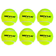 Nivia Hevay Cricket Tennis Balls - Pack of 6 Yellow Balls