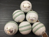 BA Royal Crown 4 Piece White Cricket Ball - 6 Balls