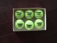 TC  Heavy Cricket Tennis Balls - Pack of 6 Yellow Balls