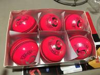 TC Indoor Pink Cricket ball - 6 Balls