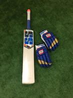 SS Master 1500  English Willow Cricket Bat + RH Batting Gloves