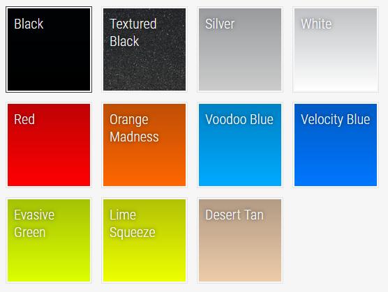 S3 Power Sports Polaris Powder Coat Colors
