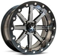"15"" MSA M21 Lok Beadlock Wheels - Gunmetal Black"