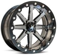 "15"" MSA M21 Lok Beadlock Wheels - Gunmetal Black"