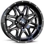 "14"" MSA M26 Vibe Wheels - Black"