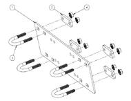 Winch Mounting Plates for Honda ATV's & UTV's
