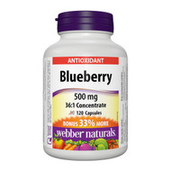 Webber Naturals Blueberry 36:1 Concentrate, 500mg, 120 Caps (90+30) - 藍莓, 500 毫克, 120粒 (90粒+30粒) | LOTUSmart (HK) Hong Kong - 香港 樂濤