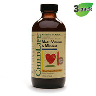 ChildLife Multi Vitamin & Mineral Formula, Orange/Mango 8 fl oz (237 ml), Pack of 3 - 童年時光多種維他命礦物質配方 (橙芒味), 三支裝  | LOTUSmart.com (HK) Hong Kong - 香港樂濤