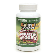 Nature's Plus Animal Parade Children's Fruit & Veggies Chewables, Pineapple 180 Animals - 兒童蔬菓補充品 (180粒) | LOTUSmart (HK) - 香港樂濤