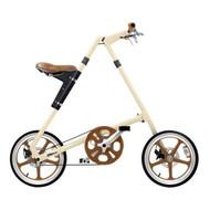 STRiDA LT Bike - Cream - Side View - Strida Bike, LOTUSmart, Bicycle, Folded bicycle, STRiDA LT Bike