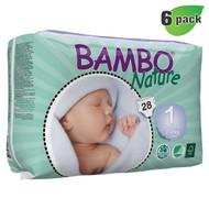 Bambo Nature Newborn Diapers, Size-1, 2-4 Kg, 28 ct./Pack - 丹麥嬰兒紙尿片, 新生兒, 1號, 2-4 Kg (28片/包) | LOTUSmart (HK) - 香港樂濤