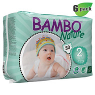 Bambo Nature Mini Diapers, Size-2, Extra Small, 3-6 Kg, 30 ct./Pack - 丹麥嬰兒紙尿片, 2號, XS碼, 3-6 Kg (30片/包) | LOTUSmart (HK) - 香港樂濤