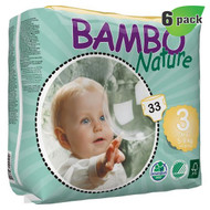 Bambo Nature Midi Diapers, Size-3, Small, 5-9 Kg, 33 ct./Pack - 丹麥嬰兒紙尿片, 3號 S碼 5-9 Kg (33片/包)  | LOTUSmart (HK) - 香港樂濤