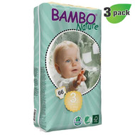 Bambo Nature Midi Diapers, Size-3, Small, 5-9 Kg, 66 ct./Pack - 丹麥嬰兒紙尿片, 3號 S碼 5-9 Kg (66片/包) | LOTUSmart (HK) - 香港樂濤