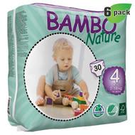 Bambo Nature Maxi Diapers, Size-4, Medium, 7-18 Kg, 30 ct./Pack - 丹麥嬰兒紙尿片, 4號, M碼, 7-18 Kg (30片/包) | LOTUSmart (HK) - 香港樂濤
