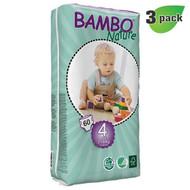 Bambo Nature Maxi Diapers, Size-4, Medium, 7-18 Kg, 60 ct./Pack - 丹麥嬰兒紙尿片, 4號, M碼 7-18 Kg (60片/包) | LOTUSmart (HK) - 香港樂濤
