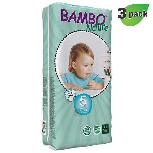 Bambo Nature Junior Diapers, Size-5, Large, 12-22 Kg, 54 ct./Pack - 丹麥嬰兒紙尿片, 5號, L碼 12-22 Kg (54片/包) | LOTUSmart (HK) - 香港樂濤