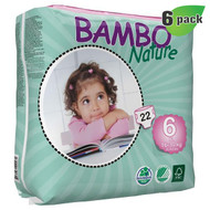 Bambo Nature Diapers, Size-6, Extra Large, 16-30 Kg, 22 ct./Pack - 丹麥嬰兒紙尿片, 6號, XL碼 16-30 Kg (22片/包)  | LOTUSmart (HK) - 香港樂濤