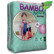 Bambo Nature Training Pants, Size-6, Extra Large, 18 Kg+, 18 ct./Pack - 丹麥嬰兒訓練褲, 6號, XL碼 18 Kg+ (18片/包) | LOTUSmart (HK) - 香港樂濤