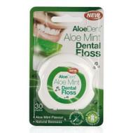 AloeDent Aloe Vera Mint Dental Floss 30m 英國蘆薈蜂蠟優質牙線(薄荷味) 30米 | LOTUSmart (HK) - 香港樂濤