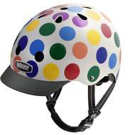 - Front View with Visor - Nutcase Helmet, Dots, Bicycle Helmets  - 單車頭盔, 七彩小圓點  | LOTUSmart (HK) Hong Kong - 香港樂濤