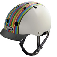 - Front View with Visor - Nutcase Helmet, Rainbowstrip, Bicycle Helmets  - 單車頭盔, 彩虹小子  | LOTUSmart (HK) Hong Kong - 香港樂濤