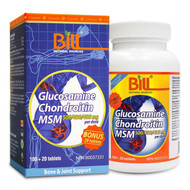 BILL Natural Sources Glucosamine Chondroitin MSM, 120 tablets  -  康加美健骨康片劑 | LOTUSmart (HK) - 香港樂濤