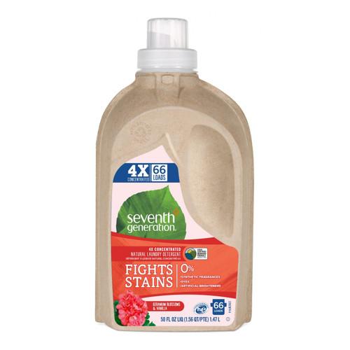 Seventh Generation Natural 4X Laundry Liquid, Geranium Blossoms & Vanilla - 四倍超濃縮天然洗衣液 , 天竺葵香草味    LOTUSmart (HK) - 香港樂濤