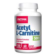 Jarrow Formulas Acetyl L-Carnitine 500, 60 vegetarian capsules 乙酰左旋肉鹼 60粒膠囊 | LOTUSmart (HK) - 香港樂濤