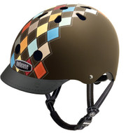 - Nutcase Helmet, Modern Argyle, Bicycle Helmets  - 單車頭盔, 菱形彩圖  | LOTUSmart (HK) Hong Kong - 香港樂濤 - Front View with Visor