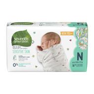 Seventh Generation Free & Clear Baby Diapers, Newborn - 無氯防敏嬰兒紙尿片 (初生) | LOTUSmart (HK) - 香港樂濤