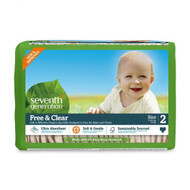 Seventh Generation Free & Clear Baby Diapers, Stage 2 - 無氯防敏嬰兒紙尿片 (細碼) | LOTUSmart (HK) - 香港樂濤