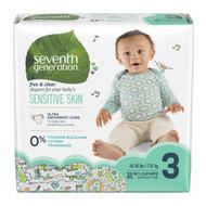 Seventh Generation Free & Clear Baby Diapers, Stage 3 - 無氯防敏嬰兒紙尿片 (中碼) | LOTUSmart (HK) - 香港樂濤