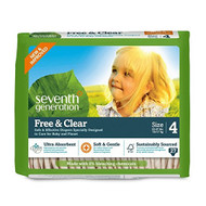 Seventh Generation Free & Clear Baby Diapers, Stage 4 - 無氯防敏嬰兒紙尿片 (大碼) | LOTUSmart (HK) - 香港樂濤