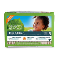 Seventh Generation Free & Clear Baby Diapers, Stage 5 - 無氯防敏嬰兒紙尿片 (加大碼) | LOTUSmart (HK) - 香港樂濤