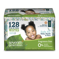 Seventh Generation Free & Clear Baby Wipes - Value Pack, 128 ea/Pack 嬰兒濕紙巾 - 超值裝, 128片/包 | LOTUSmart (HK) - 香港樂濤