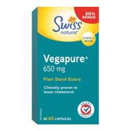 Swiss Natural Vegapure Plant Sterol Esters, 650mg, 60 Capsules - Vegapure 膽固醇控制配方 | LOTUSmart (HK) - 香港樂濤