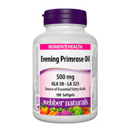 Webber Naturals Evening Primrose Oil, 500mg, 180 softgels 月見草油精華丸 500毫克 180粒 | LOTUSmart (HK) Hong Kong - 香港 樂濤