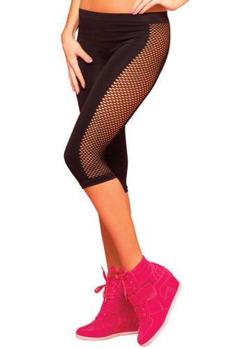 Pure Performance Side Net Crop Pant