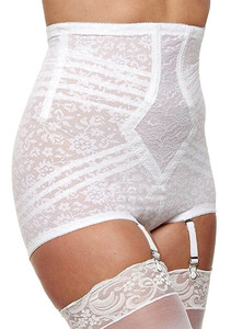 High Waist Extra Firm Shaping Panty Brief With Garters