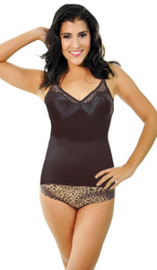 Satin and Lace Stretch Camisole Soft Shaping
