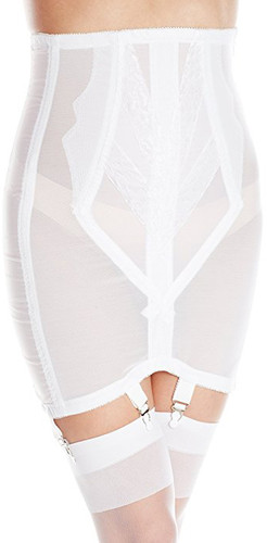 Extra Firm High Waist Open Bottom Girdle with Zipper