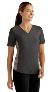 V-Neck Shirt with Built In Bra