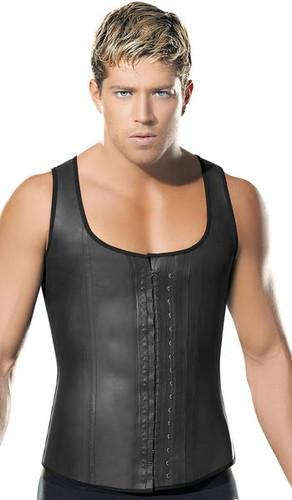 Mens Latex Waist Trainer Support Vest