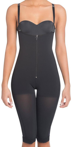 High Compression Braless Capri Body Shaper